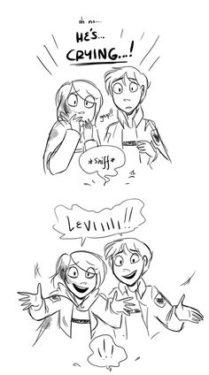 Levi, Petra, Eren-Attack on Titan