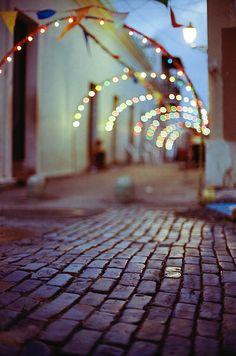 Arch with lights   photo by Luis Andrei Muñoz http://luismunoz.tumblr.com/   via kikisloane.tumblr.com