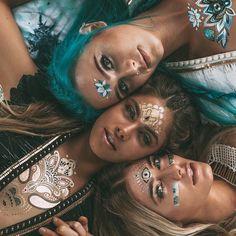 Face paint face jewels festival style