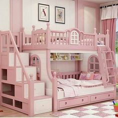 Cheap bunk bed, Buy Quality bed girl directly from China princess bed Suppliers: bunk bed pink childern bed Solid wood bady fluctuation bed girl princess bed Bed For Girls Room, Cool Kids Bedrooms, Kids Bedroom Designs, Cute Bedroom Ideas, Kids Bedroom Sets, Kids Room Design, Little Girl Rooms, Bed Design, Girls Bedroom