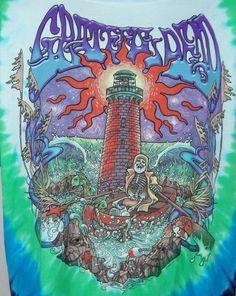 Liquid Blue Grateful Dead T-shirt Mens XXL Watch Tower Tye Dye Skeleton Colorful #LiquidBlue #GraphicTee $31.99