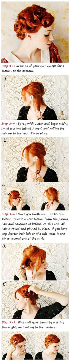 Pin Curls Hair Tutorial | Hairstyles and Beauty Tips