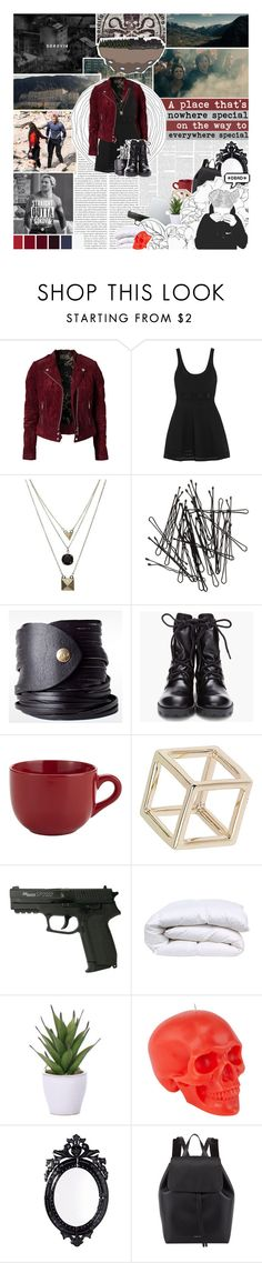 """""""121. The world's been on edge since Sokovia almost fell from the sky"""" by h-awkeye ❤ liked on Polyvore featuring Jofama, Elizabeth and James, Gathering Eye, H&M, Linea Pelle, Theyskens' Theory, Pier 1 Imports, Topshop, Lux-Art Silks and D.L. & Co."""