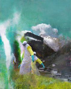 "Justin Mortimer (UK: 1970) -  ""Das Besucher"" (2014), oil on canvas (courtesy Parafin Gallery)"