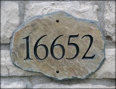 ADDRESS STONE Mailbox Plaque / House Marker Home by TMichaelStudio, $64.99