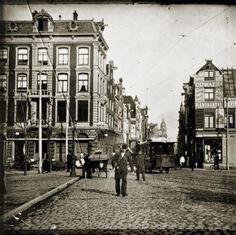 (This is where my grampa was raised.) omeHet Leidseplein met één van de laatste paardentrams. november/december 1903