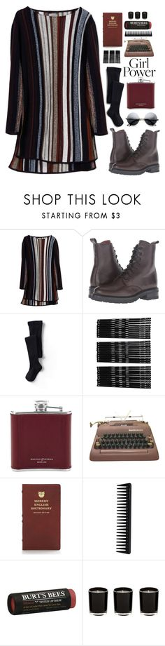 """""""Sorry, bae :P"""" by hellowaffles ❤ liked on Polyvore featuring Maiyet, Frye, Lands' End, Monki, Aspinal of London, Kate Spade, GHD, Burt's Bees, black and bad"""