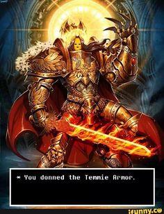 Undertale Temmie armor 100% canon