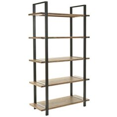$218.97 @ lowes Safavieh American Home Brown 65.2-in 5-Shelf Bookcase