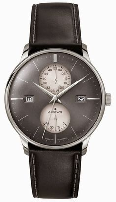 Available for Sale - Junghans Meister Agenda calendar watch anthracite dial - Perpetuelle - in English