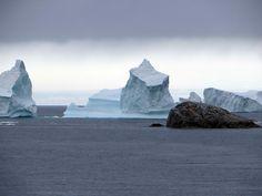 Isbjerge ved Grønland