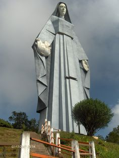 The Virgen de la Paz Monument is located near Trujillo, Venezuela. At 46.72 meters high, it's is the highest habitable sculpture of the America, just 5 inches taller than the Statue of Liberty.