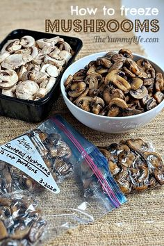 Saute, portion, and freeze mushrooms to save money and reduce waste. Can You Freeze Mushrooms, Freezing Mushrooms, Dried Mushrooms, Sauteed Mushrooms, Vegetable Drawer, Reduce Waste, Frozen Meals, Supper Recipes, Just Cooking