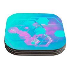 KESS InHouse Emersion Aqua Coaster
