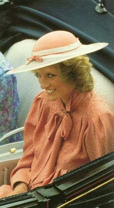 June 20, 1984: Princess Diana arriving at the Smith's Lawn polo grounds, Windsor.