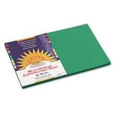 Construction Paper 58 Lbs 12 X 18 Holiday Green 50 Sheetspack By SunWorks -- Continue to the product at the image link.-It is an affiliate link to Amazon. #DrawingPaintingSupplies