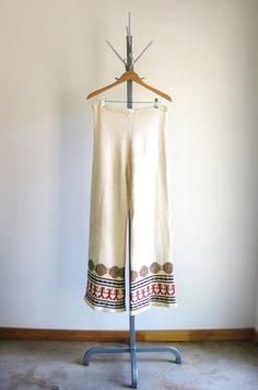 Vintage Knit Pants 60s 70s Aztec Wide Leg Boho Bell Bottom Sweater Pants L by MetricMod on Etsy https://www.etsy.com/listing/204369511/vintage-knit-pants-60s-70s-aztec-wide