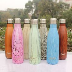 Gorgeous Hand Dipped Unique Plastic /& Stainless Steel Water Bottle\u2014 READY TO SHIP