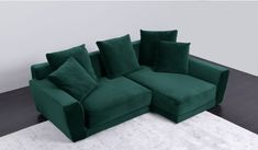 Quality Sofas Direct from the Supplier at up to OFF the RRP. Many fabric options available. Velvet Corner Sofa, Green Velvet Sofa, Green Sofa, Quality Sofas, Small Corner, Small Sofa, Small Apartments, Cushions, Couch