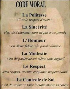 Morele code - Apocalypse Now And Then Le Moral, Quote Citation, French Quotes, Morals, French Language, Positive Attitude, Positive Affirmations, Decir No, Quotations