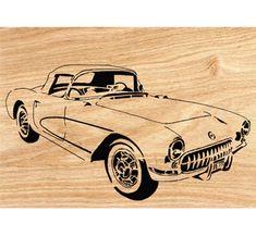 1957 Corvette Scrolled Wall Art Pattern