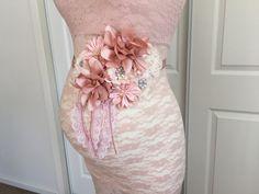 Hermosa Vintage Blush maternidad faja novia por BoutiqueByAgnes