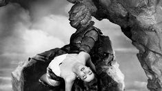 CREATURE FROM THE BLACK LAGOON (1953) - Richard Carlson - Julie Adams - Richard Denning - Directed by Jack Arnold - Universal-International - Publicity Still.