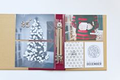 Project Life by Stampin' Up! Hello December collection.  Perfect for documenting your holidays. By Rachel Delgrosso.
