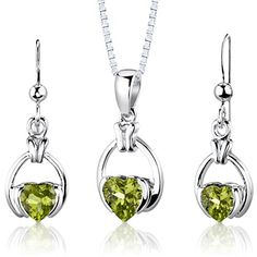 Peora Amethyst Pendant Earrings Necklace Sterling Silver Pear Shape 1.25 Carats