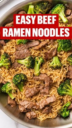 Raman Recipes, Beef Recipes, Cooking Recipes, Healthy Recipes, Beef Dishes, Pasta Dishes, Food Dishes, Easy Dinner Recipes, Easy Meals
