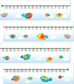 Boho Birds Number Line Bulletin Board Set (CD-110260) #classroom #decor #AILtyler