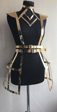 Apparel Accessories Nightclub Camisole Golden Vest Waist Straps Belt Hologram Belt On Upper Body Women Man Sexy Costumes Upper Body Slash Vivid And Great In Style