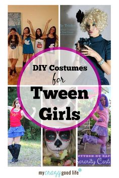 Age-appropriate DIY Tween Girl Costume Ideas. These are really fun, creative ideas for this Halloween.