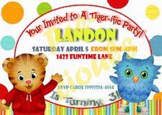 Daniel Tiger Birthday Invitation by PreciousTrends4U on Etsy, $4.75