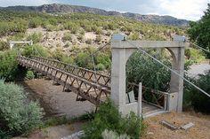 Otowi Suspension Bridge, Los Alamos, New Mexico
