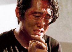 Steven Yeun as Glenn Rhee Walking Dead Gif, The Walking Ded, Glen Rhee, Steven Yuen, Watch Gif, Atlanta, Maggie Greene, Christina Perri, Love Only