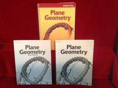 Abeka Plane Geometry  Solution Key, Student Test/Quiz & Key, Homeschool School #TextbookBundleKit