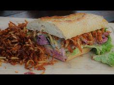 Kanapka ze stekiem i ziemniaczanym chrustem steak sandwich / Oddaszfartucha Join Instagram, Steak, Sandwiches, Burgers, Youtube, Food, Essen, Hamburgers, Steaks