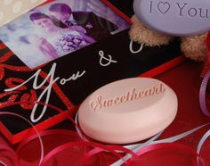 A great gift for the man or women you love - a single bar box of our scented soap engraved with your pet name for each other like sweetheart, honey, darling - a great Valentine's Day gift