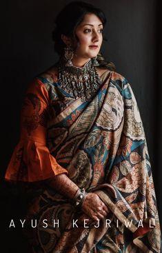 913c204418 Kalamkari Saree By Ayush Kejriwal For purchases email me at  designerayushkejriwal@hotmail.com or what's app me on 00447840384707 We  ship WORLDWIDE.