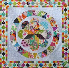 circle game quilts | The squares on point border was very enjoyable.