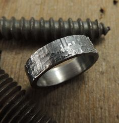 6mm Mens Wedding Band, Eco Friendly, Sustainable, Handmade Wedding Ring,Sterling Silver Ring