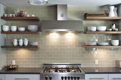 Simple and Impressive Ideas: Floating Shelves Kitchen Simple floating shelf vanity home office.Floating Shelf Hallway Home Decor how to hang floating shelves mirror.How To Make Floating Shelves Basements. Subway Tile Kitchen, Kitchen Backsplash, Subway Tiles, Backsplash Ideas, Subway Backsplash, Kitchen Ikea, New Kitchen, Awesome Kitchen, Shabby Chic Kitchen