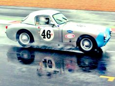 Charles Clegg on 1965 Austin Healey Sebring Sprite qualifying for the Silverstone Classic 2015