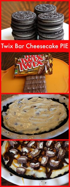 Easy Twix Bar Cheesecake Pie Recipe > 1st place winner in a pie contest!