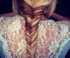 fishbone tail with ombre hair
