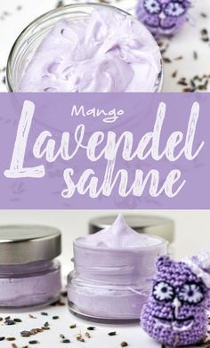 Lavender body cream based on mango butter with purple color pigment and ethereal . - Mango butter-based lavender body cream with purple color pigment and essential lavender oil en - Homemade Skin Care, Diy Skin Care, Shampooing Diy, Best Skin Cream, Diy Pinterest, Body Creams, Whipped Body Butter, Tips Belleza, Oils For Skin