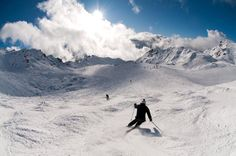 Skiing in the Swiss Alpes