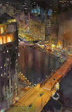 John T. Selminen I Watercolor