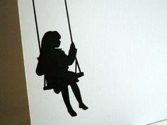silhouette of girl on swing - Google Search